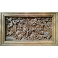 Medium 3D panel with animal in forest crafts.