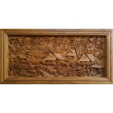 Large 3D panel with country crafts.