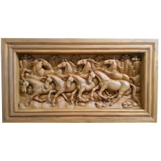 Medium 3D panel with horse crafts.