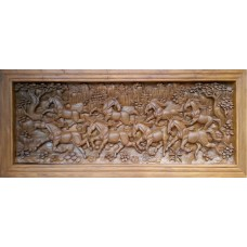 Large 3D panel with horse crafts.