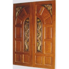 Double door with dragon II crafts.