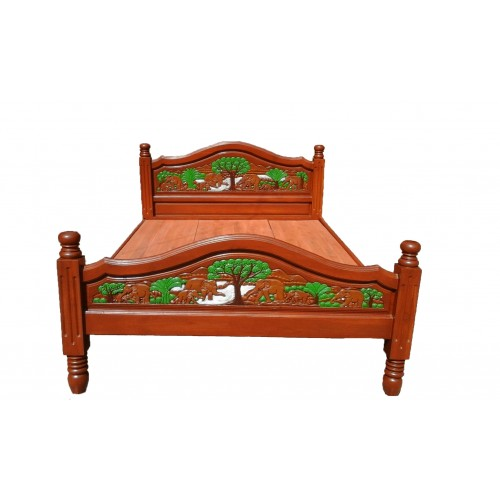 Bed Frame With Elephant I Crafts
