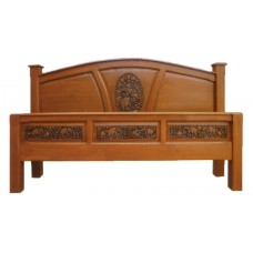 Bed frame with elephant II crafts.