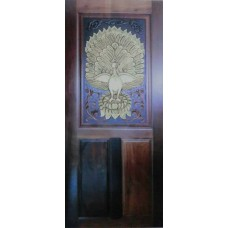Single door with peacock I crafts.